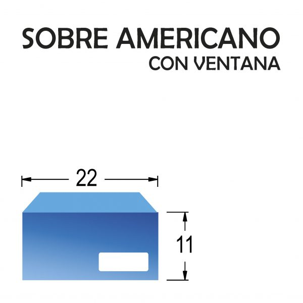Sobre americano/comercial CON ventana